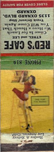 Red's Cafe Oxnard matchbook