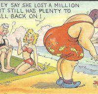 Cartoon postcard huge butt