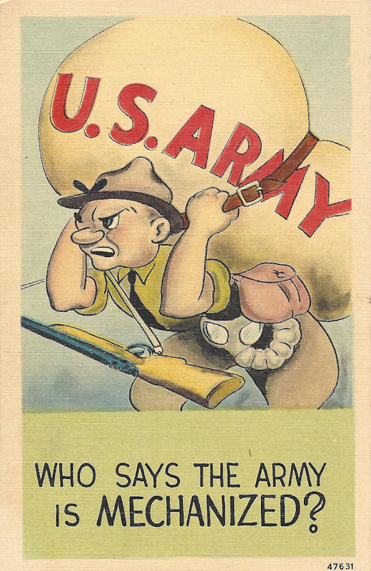 WWII postcard cartoon
