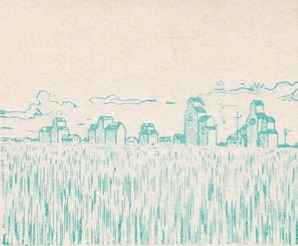 Grain harvesting in Saskatchewan