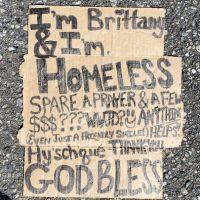 Magic Marker Homeless Sign