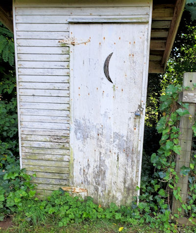 Old outhouse padlocked to prevent shit theft