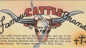 Famous Cattle Brands postcard
