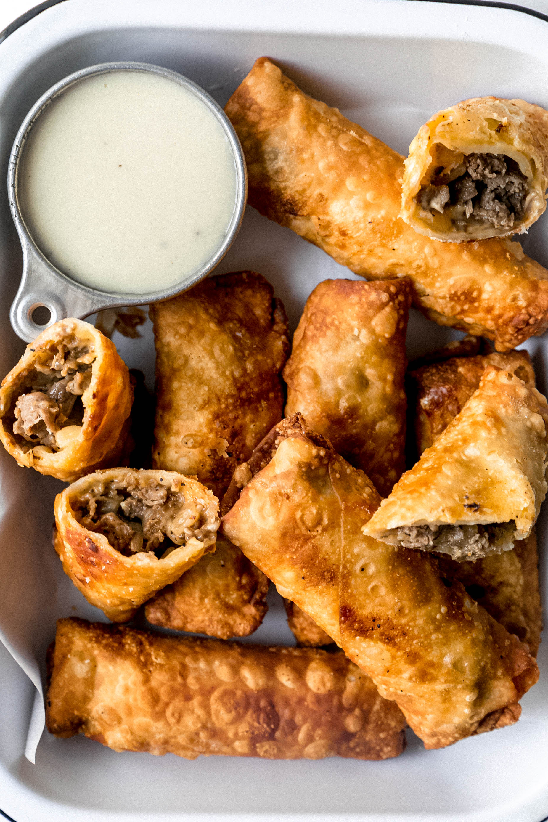 Philly Cheesesteak Egg Rolls - Never Not Hungry