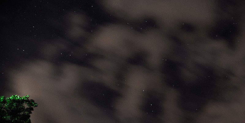 Stars quilted by clouds