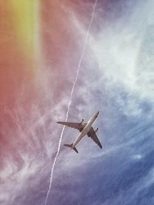 Plane colorful