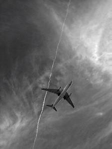 Plane black & white
