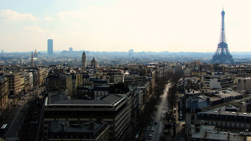 Paris to the southwest from Arc de Triomphe