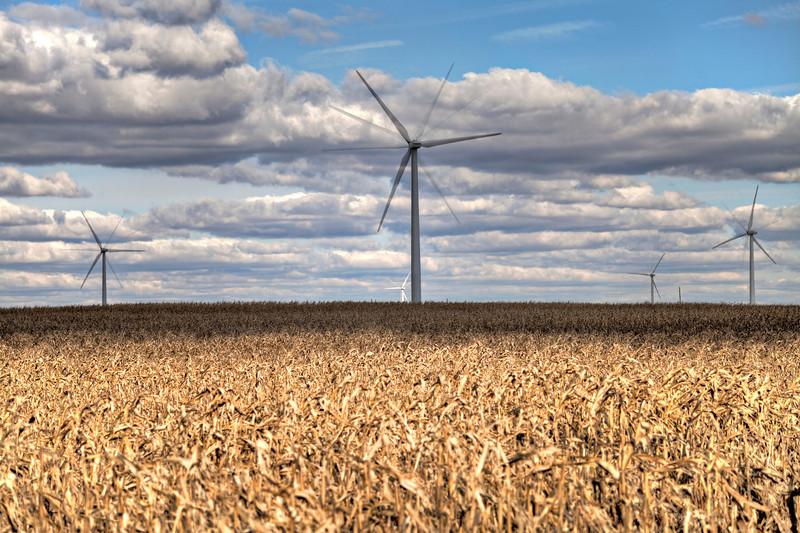 Wind farm on the plain
