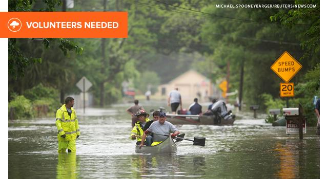 Volunteer in Florida after flooding