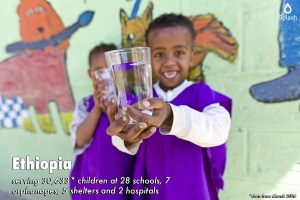 Splash serving 30,633 children at 28 schools, 7 orphanages, 5 shelters ,and 2 hospitals in Ethiopia