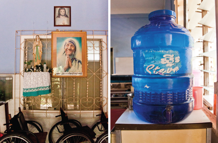 Picture of Mother Teresa and water jug