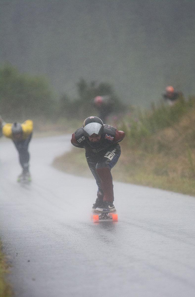 Racing in torrential rain