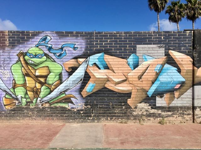 tmnt-graffiti-mural-2 | Never to Old to Travel | Gary House