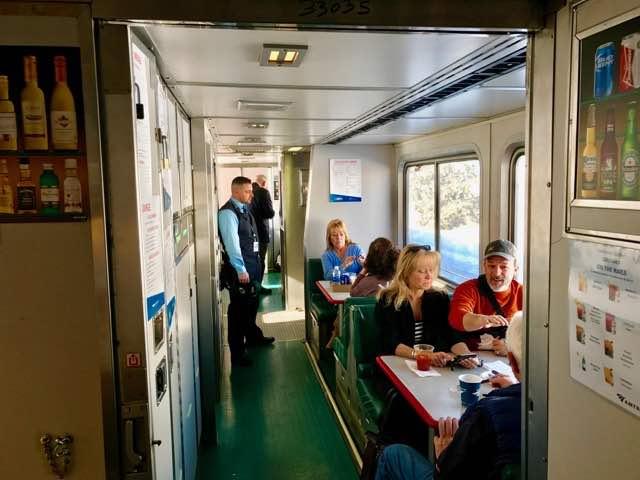 Amtrak dining car cafe seating | NevertoOldtoTravel.com | Gary House