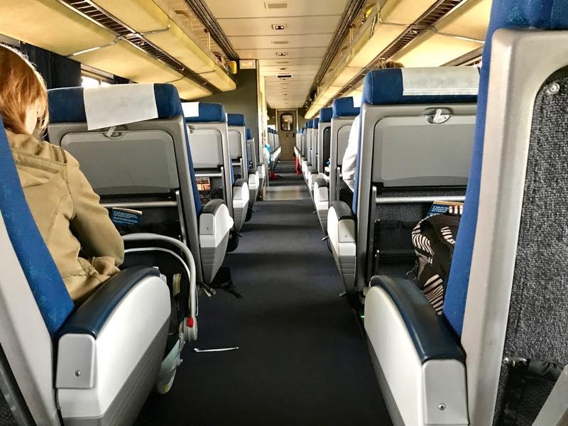 Room to take a walk on Amtrak trains | nevertooldtotravel.com | Gary House