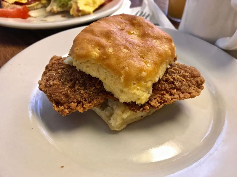 Fried chicken biscuits | nevertooldtotravel.com | Gary House