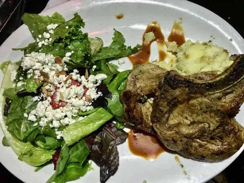 Pork Chops with Uptown Sauce, Mac n Cheese and Salad | NevertoOldtoTravel.com | Gary House