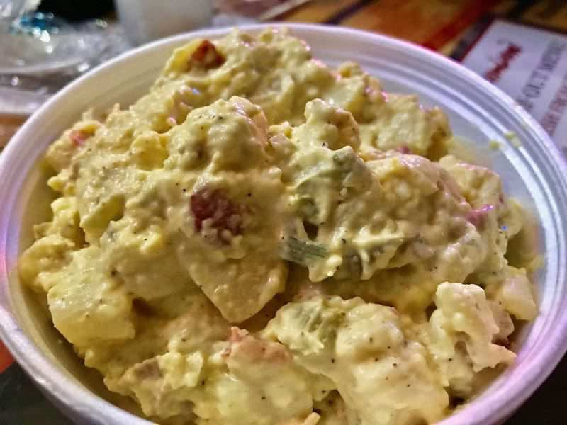 Side of Potato salad | nevertooldtotravel.com | Gary House