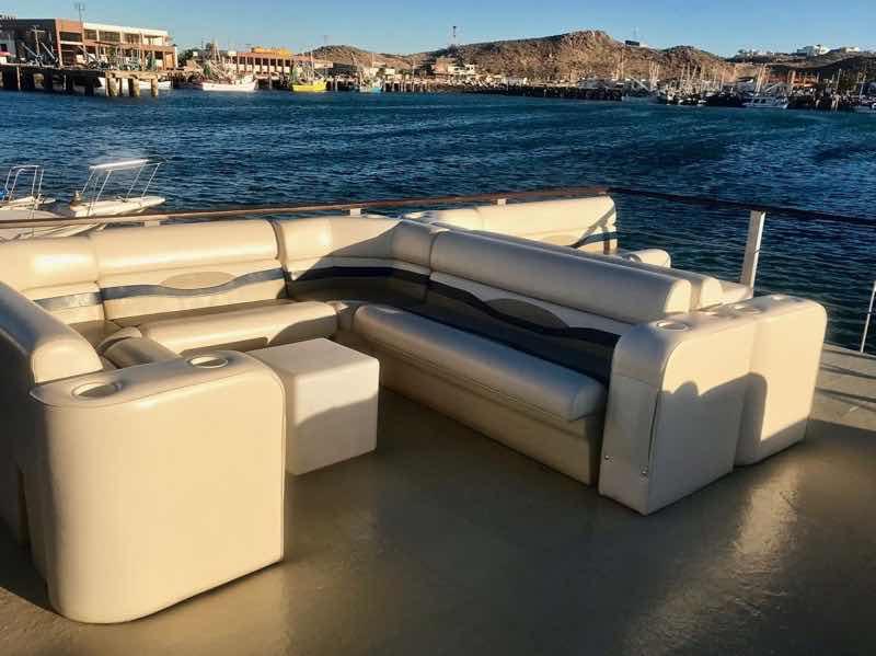 Very comfortable lounging on the upper deck of the Señorita Rita | Nevertooldtotravel.com | Gary House