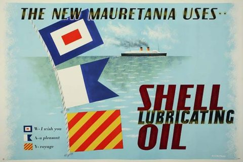 Shell lubricating oil advertisement