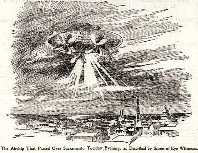 Mystery airship illustration