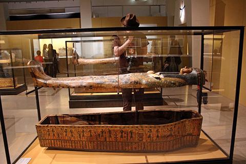 Cinquantenaire Museum Belgium Sarcophagi exhibit