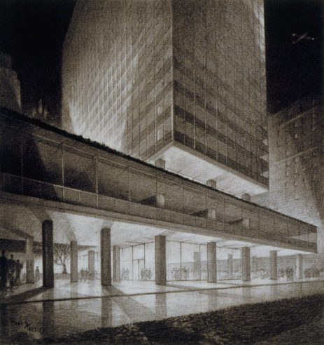 Lever House New York by Hugh Ferriss