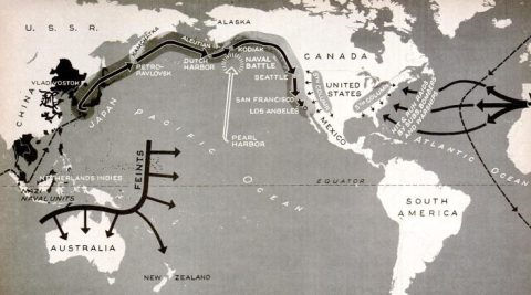 Axis invasion of America map