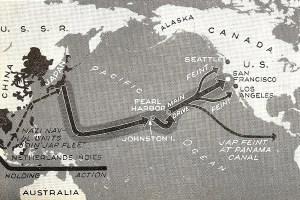 Japanese invasion of America map