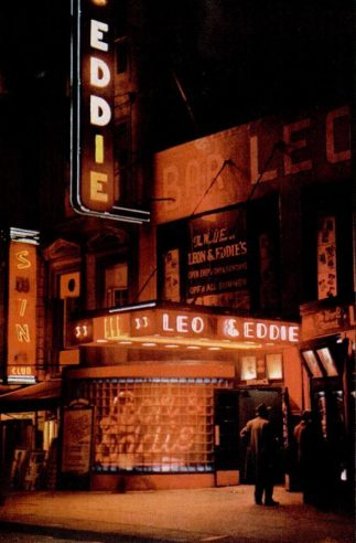 Eddie bar New York at night 1946