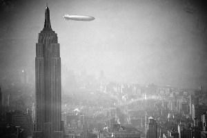 Hindenburg airship over New York