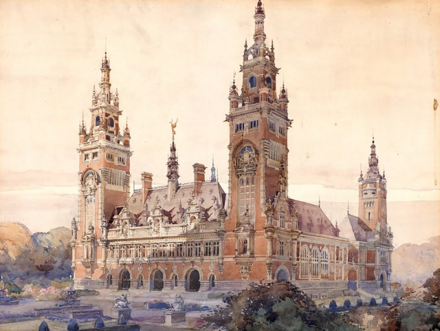 The Hague Peace Palace design by Louis Marie Cordonnier
