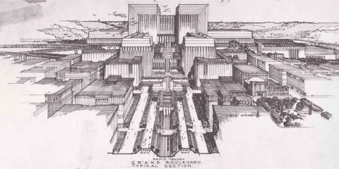 Los Angeles Civic Center design