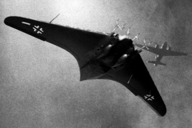 Horten Ho IX German flying wing artwork