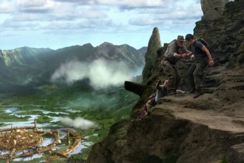 Journey 2: The Mysterious Island scene