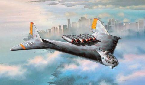 Revell Arado E.555 German bomber artwork