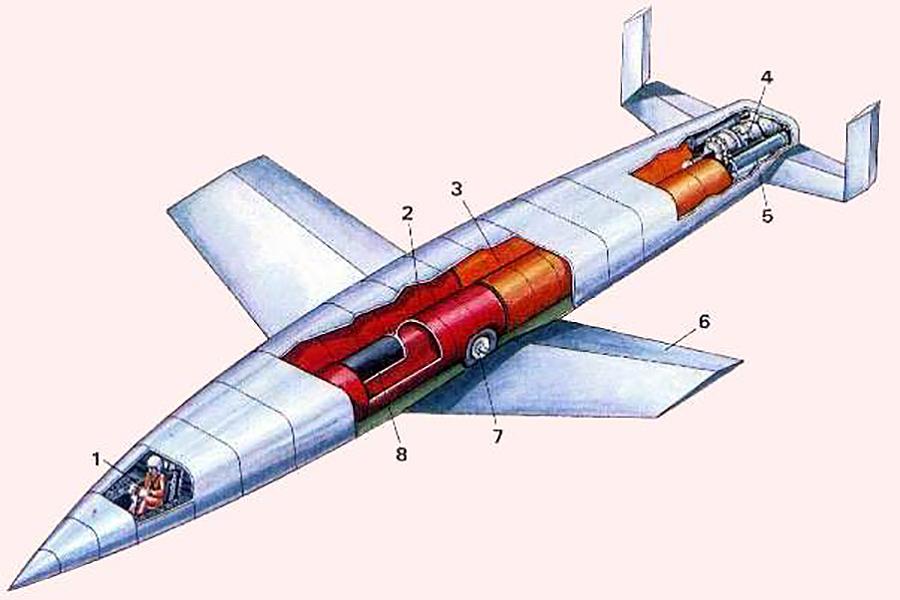 Silbervogel German bomber cutaway