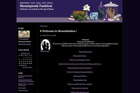 Steamfashion website