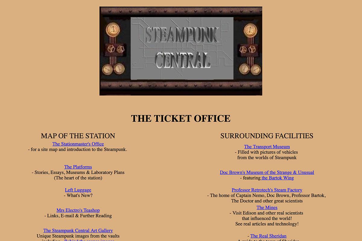 Steampunk Central website