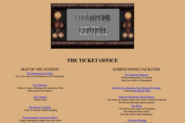 Steampunk Central website