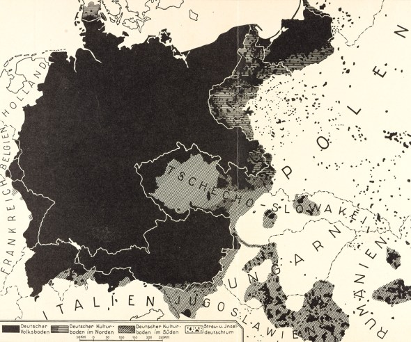 1925 Germany map