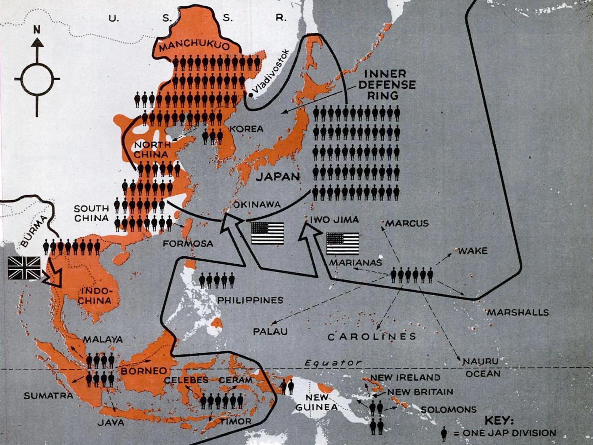 1944 Pacific War map