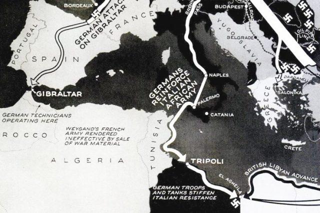 Europe 1941 map