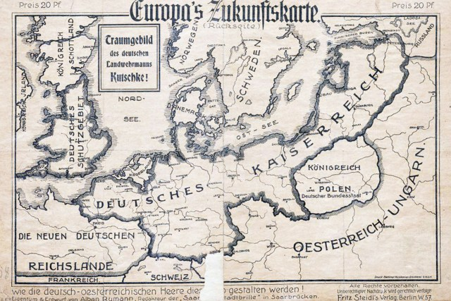 German Empire 1915 map