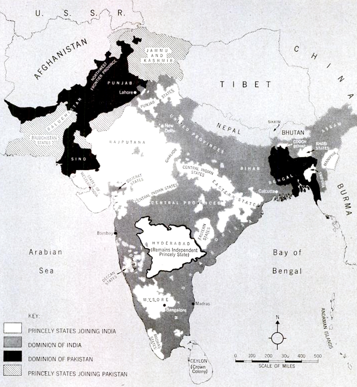 India partition map