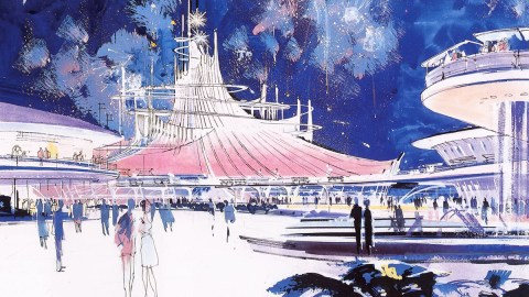 John Hench Disney Tomorrowland concept art