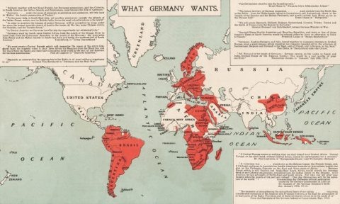 What Germany Wants 1917 map