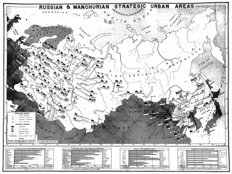 1945 Soviet Union Manchuria map