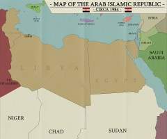 Arab Islamic Republic map